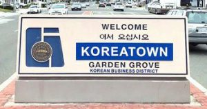 Koreatown district in garden grove